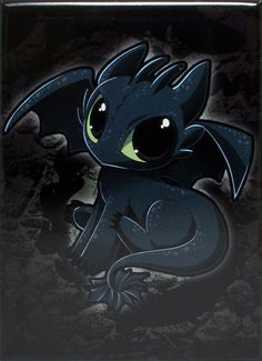 Baby Toothless Magnet - THATWEBSTORE