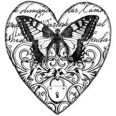 mariposa en corazon