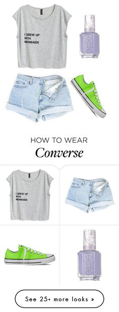 """""""Box Look /#33\: Mermaid At Heart"""" by togetherforever713 on Polyvore featuring Converse and Essie"""