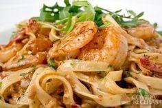 Receita de Tagliatelle ao molho de camarão em receitas de massas, veja essa e outras receitas aqui!
