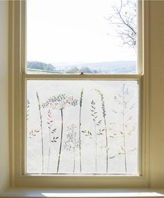 frosted window film In The Tall Grass Window Film Hannah Nunn Frosted Glass Design, Frosted Glass Window, Window Design, Door Design, Glass Porch, Sandblasted Glass, Window Privacy, Window Films, Bathroom Windows