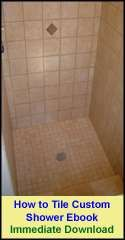 see my shower pan ebook to learn how to install a mortar shower pan