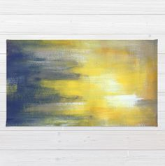 Yellow and Grey Area Rug - Modern Color Combination