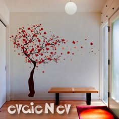 Wall Decals  Tree Wall Decal with Blossoms  Wall Stickers