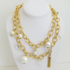 Susan Shaw Gold Chunky Necklace
