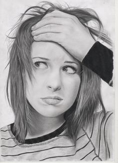 """ Hayley Williams ""  pencil on paper, FB: https://www.facebook.com/pages/The-Portraits-Art/164524207083225?ref=tn_tnmn"