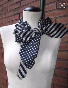 Awesome 39 DIY Collar Sewing Ideas to Help You Create Your Own Unique Collar Look Fashion, Diy Fashion, Womens Fashion, Old Ties, Tie Crafts, Diy Clothing, Mode Style, Refashion, Outfits