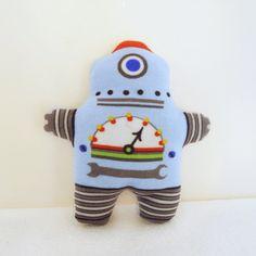 Robot Doll Blue Plush Stuffed