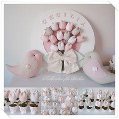kit maternidade,quadro de maternidade,enfeite de porta, tema passarinho,vaso de tulipa