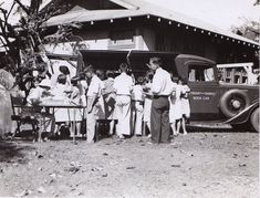 1930s, Hawaii - a half-ton Ford delivery van used as a #bookmobile