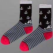 Skarpetki Malita Sick red/black/white - skarpetki MALITA   - sportowe z bawełny czesanej, z dodatkiem włókna elastanowego i poliamidowego   - z płaskim szwem i podwójnym ściągaczem   - idealne na lato