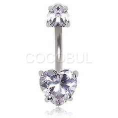 Double Spinal Hearts Jeweled Belly Ring $6.99  #gem #sparkle #heart #love #bellyring #navelring #bodyjewelry #piercing #bodymod #summer #newarrival