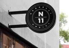 Neghelli 11 by Roberta Farese, Whiskey&Mentine,. Store Signage, Retail Signage, Wayfinding Signage, Signage Design, Environmental Graphic Design, Environmental Graphics, Blade Signage, Exterior Signage, Identity Design