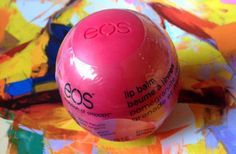 EOS, Pomegranate Raspberry, lip balm, cute packaging, organic, easy to carry, unique, moisturizes, heals, affordable, non waxy