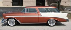 1956 Chevrolet Nomad Wagon: Drivers Side View. Great tow car.