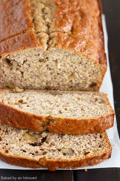 This is honestly the best banana bread recipe ever! Brown butter, buttermilk, and roasted bananas give this bread the ultimate flavor and te. Roasted Banana, Easy Banana Bread, Quick Bread, Banana Dessert, Cupcakes, Banana Bread Recipes, Sweet Bread, The Best, Cooking Recipes