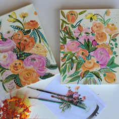 Bari J. Custom Bouquet Paintings