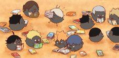 Embedded Haikyuu Karasuno, Haikyuu Fanart, Haikyuu Anime, Anime Chibi, Anime Manga, Kagehina, Haikyuu Volleyball, Volleyball Anime, Chibi Characters