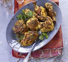 Marinade chicken in lots of classic pungent Keralan spices and cool down with coconut milk for this chargrilled Indian main