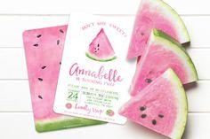 Watermelon Invitation / Watermelon Party Invitation von SwankyPress