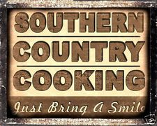 COUNTRY BARBECUE SIGN southern restaurant diner RETRO vintage KITCHEN decor art