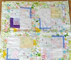 Vintage Hankies Baby Quilt Pattern   AllFreeSewing.com