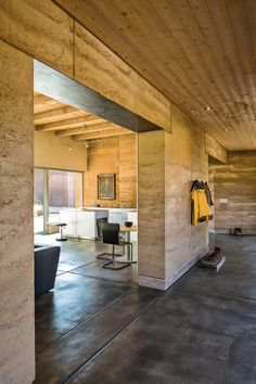 Articles about sustainable rammed earth home new mexico. Dwell is a platform for anyone to write about design and architecture. Sustainable Architecture, Sustainable Design, Interior Architecture, Residential Architecture, Contemporary Architecture, Pavilion Architecture, Industrial Architecture, Modern Industrial, Interior Design