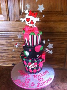 skull cake - love love this..a good cake for us girls bday!!!