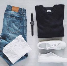 Outfit Ideas For Men: Stylish Mens Clothes That Any Guy Would Love Moda Sneakers, Sneakers Mode, Sneakers Fashion, Mens White Sneakers, Sneakers Style, Gucci Sneakers, Pink Sneakers, Retro Sneakers, Men Casual