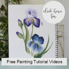 How to paint Violets one stroke at a time. An easy painting tutorial for everyone, even beginning painters. A video is included to make it even easier!