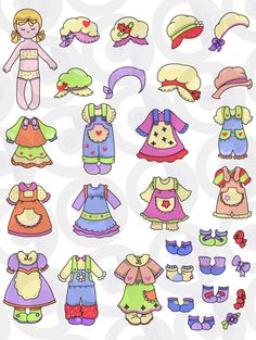 'dressing linda' clip art. use with ex.1 in this section. Paper Dolls Printable, Printable Art, Clothes Clips, Barbie Paper Dolls, Colored Paper, Christmas Images, Projects For Kids, Paper Flowers, Art Dolls
