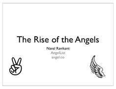 The rise of the angels by Venture Hacks  via slideshare