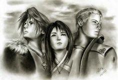 Squall, Rinoa, and Seifer ~ FF8