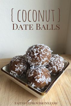 Coconut Date Balls Recipe- A Gluten (flour-free), Dairy and Sugar Free healthy alternative to your traditional holiday desserts!
