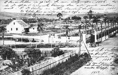 O Passeio Público na inauguração, em 1886. Fontana aplicou uma técnica de redução de banhados em seu território e logo após fez o mesmo no terreno onde seria o parque. (Foto: Acervo Casa da Memória)