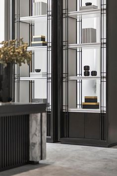 Jingya high-grade gray, oriental house with modern aesthetics and traditional culture essence Retail Interior, Modern Interior, Interior Architecture, Interior Design, Shelf Design, Cabinet Design, Design Case, Cabinet Furniture, Furniture Design