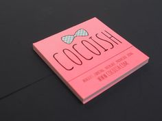 """A 2""""x2"""" square business card we printed for Cocoish."""