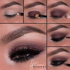 Matte, Dark Brown Eye Makeup Look Pictorial/Tutorial www.swinekeylashes.com…