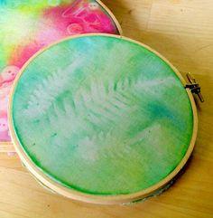 Beneath the Rowan Tree: Sun Painting :: Tutorial for DIY Fabric Art