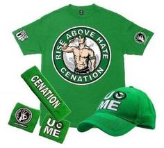 Find great deals on for john cena wristbands and john cena hat in Wrestling. John Cena Costume, Wwe Shirts, Wrestling, Cap, Costumes, Watches, Green, T Shirt, Chicken