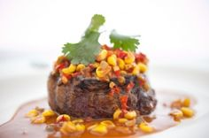 Charred Filet of Beef With Chile-Corn Sauce