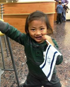 A young Bnei Menashe Oleh proud to be in Israel! :)