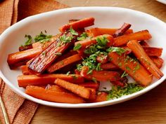 Glazed Carrots Recipe : Damaris Phillips : Food Network: I will make these a lot. They are delicious. Carrot Dishes, Carrot Recipes, Top Recipes, Side Dish Recipes, Veggie Recipes, Food Dishes, Cooking Recipes, Main Dishes, Veggie Dishes