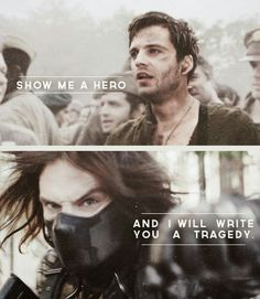 """(Marvel) + (Bucky Barnes/Winter Soldier) + (""""Show me a hero and I will write you a tragedy. Bucky Barnes, Sebastian Stan, Marvel Dc, Stucky, Loki Thor, Show Me A Hero, The Dark Side, Captain America And Bucky, Winter Soldier Bucky"""