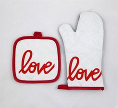 Take the turkey out the oven with love this Thanksgiving with our Love is the Special Ingredient Oven Mitt and Pot Holder by GracefulWorks - makes a great gift!