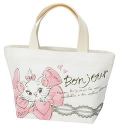 Canvas Lunch Tote Bag Aristocats Marie Disney SKATER Free Shipping from Japan