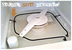 how to clean your dishwasher..  Big appliances need to be cleaned!!!  I wash my washing machine (laundry) every few months.