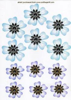 Pretty Jewelled flower emb lilac blue on Craftsuprint - Add To Basket!
