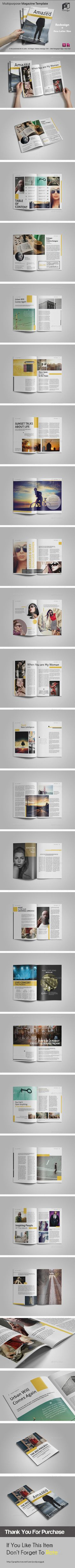Multipurpose Magazine Vol.1 — InDesign INDD #modern #multi function • Available here → https://graphicriver.net/item/multipurpose-magazine-vol1/10803072?ref=pxcr