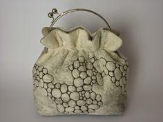 Fibrenell: 50 Shades of White Shades Of White, 50 Shades, Felt Purse, Felt Bags, Wet Felting Projects, Leather Backpack, 50th, Fashion Backpack, Bucket Bag